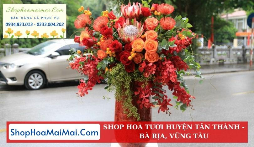 Dịch Vụ Ship Hoa Tươi Huyện Tân Thành