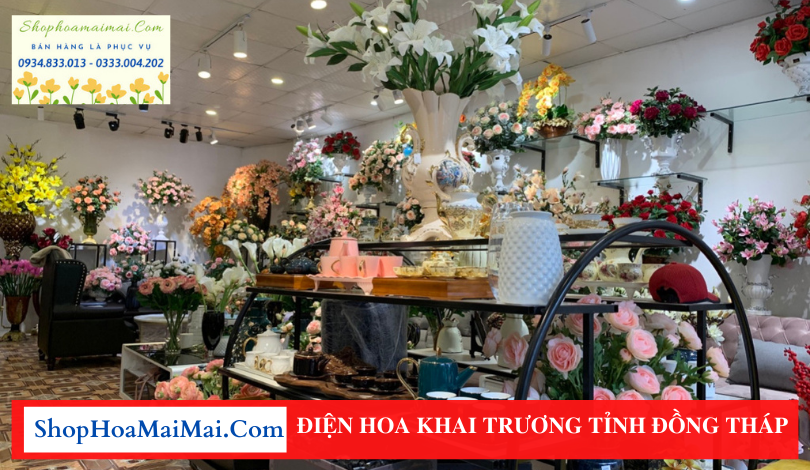 Cửa hàng bán hoa khai trương Đồng Tháp