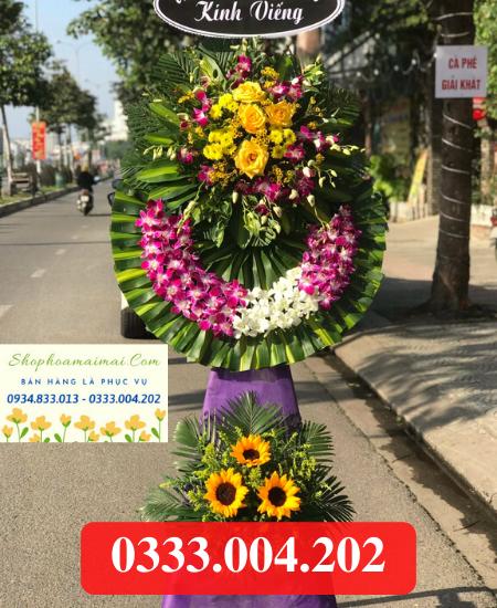 Đặt mua vòng hoa chia buồn lễ tang tại Đồng Tháp