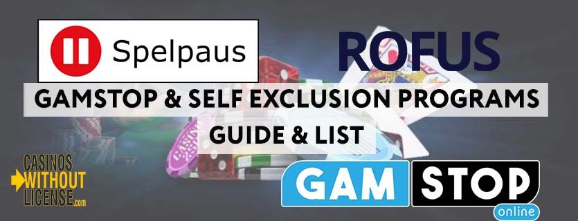Gamstop, ROFUS and Spelpaus