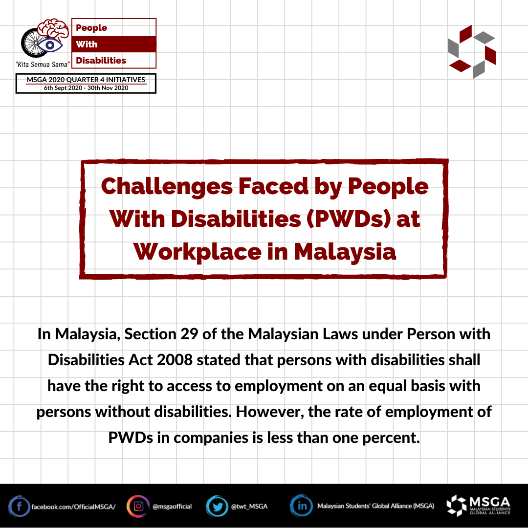 Challenges Faced by PWD at the workplace