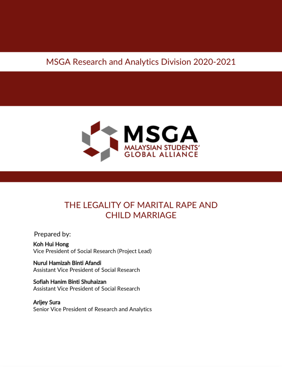 Cover page of publication