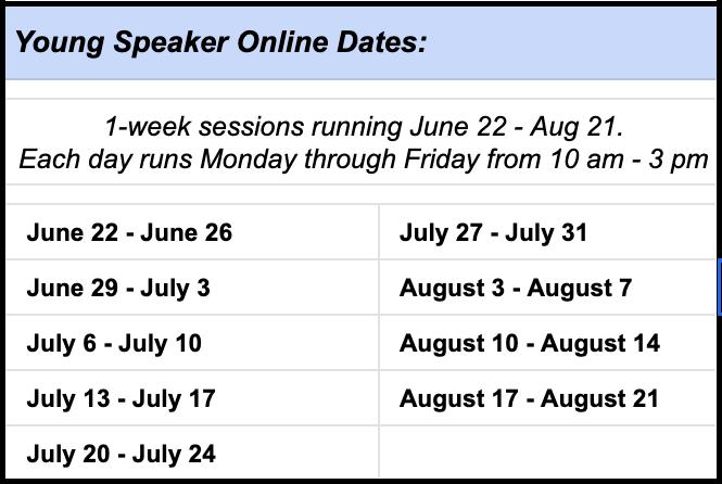 Calendar of class session