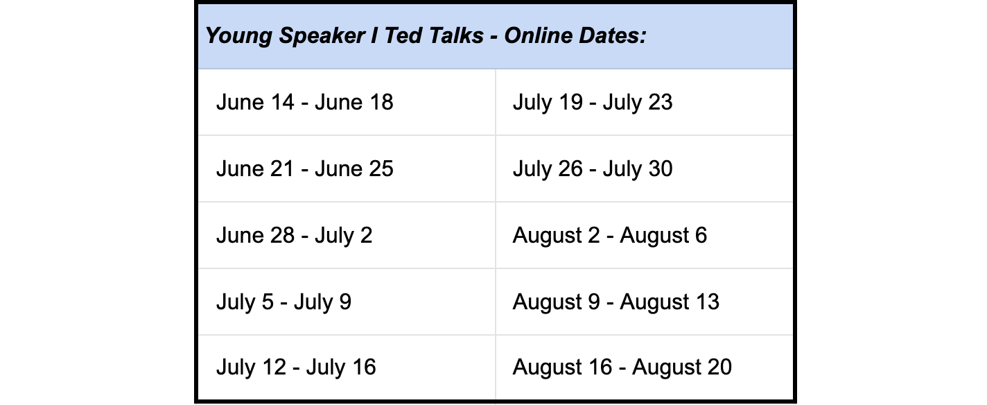 young speaker 1 ted talks online dates