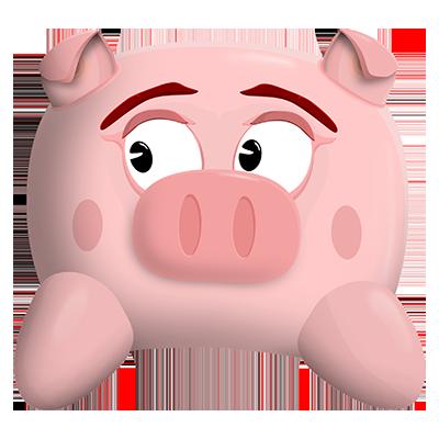 Hog, a hog and a verb