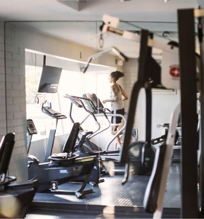 Woman in Gym, San Diego RV Resort
