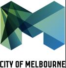 Logo for MAKE partner and client the City of Melbourne (CoM).