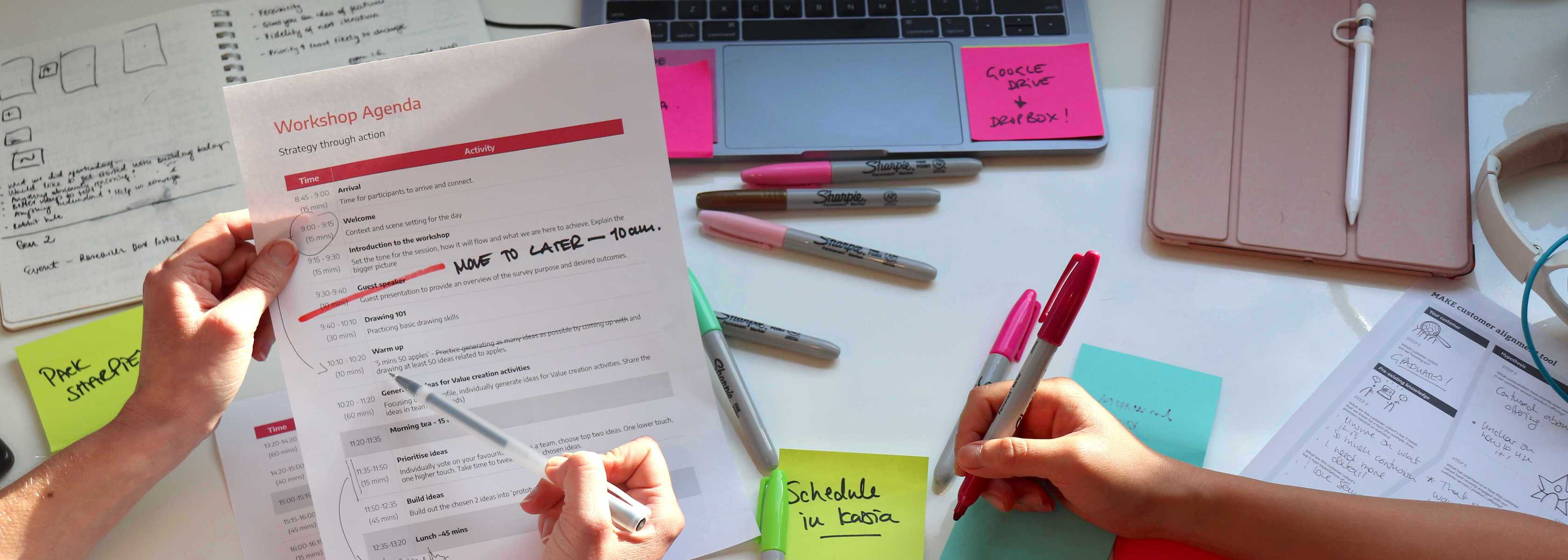 A workshop agenda and checklist