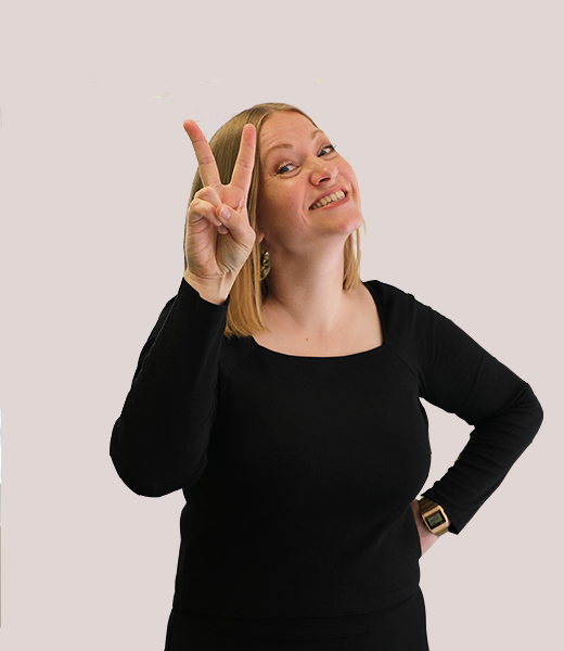 Funny portrait photo of Kristina Aagaard, Service Design Lead at MAKE Studios Melbourne.