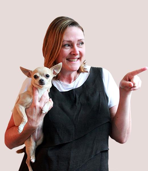 Funny portrait photo of Patti Hunt, Director, Asia Region at MAKE Studios.