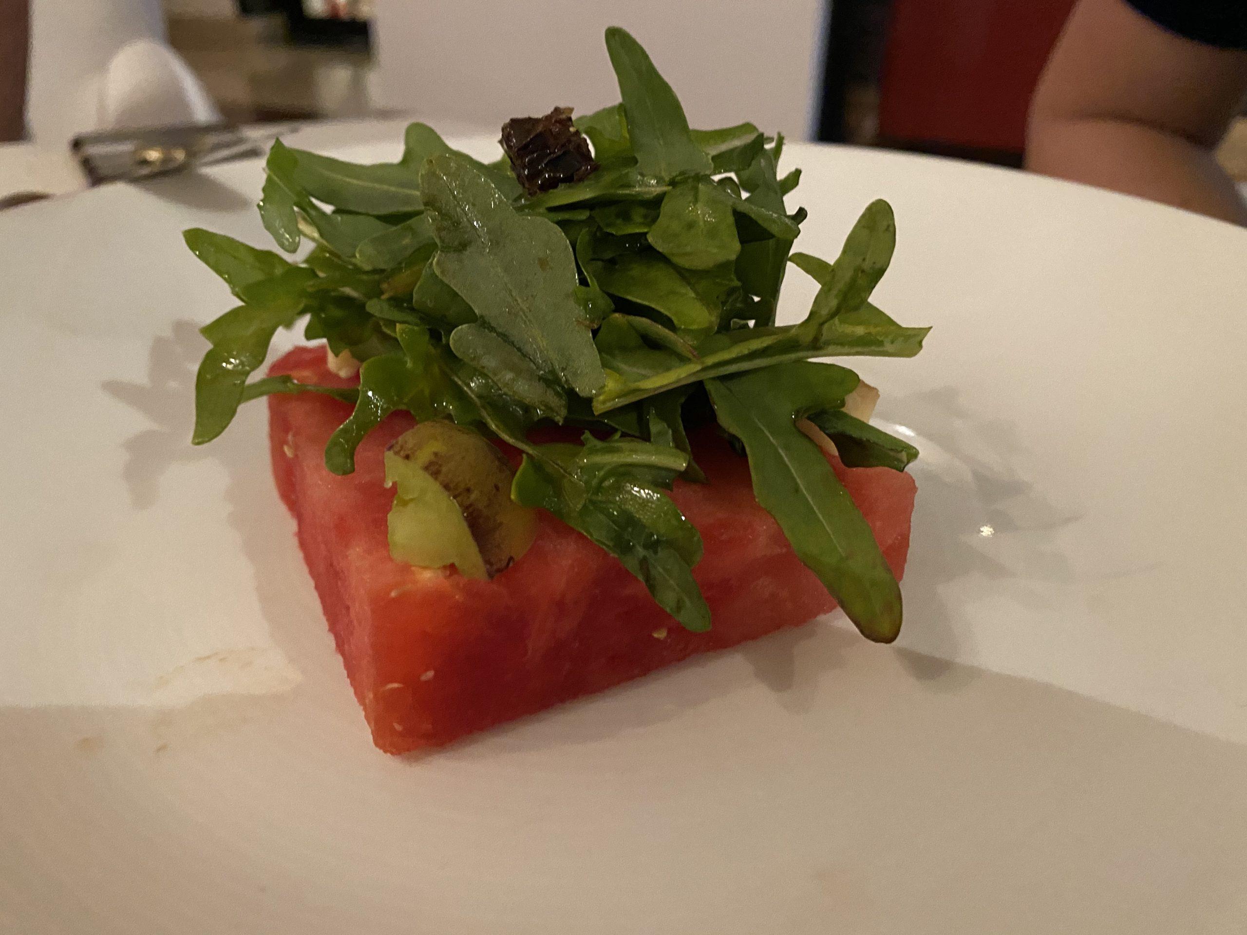 photo of the watermelon salad at Ventanas