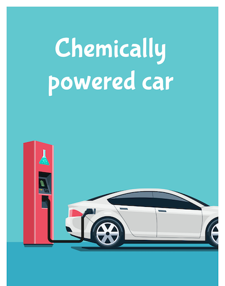 Chemically powered car