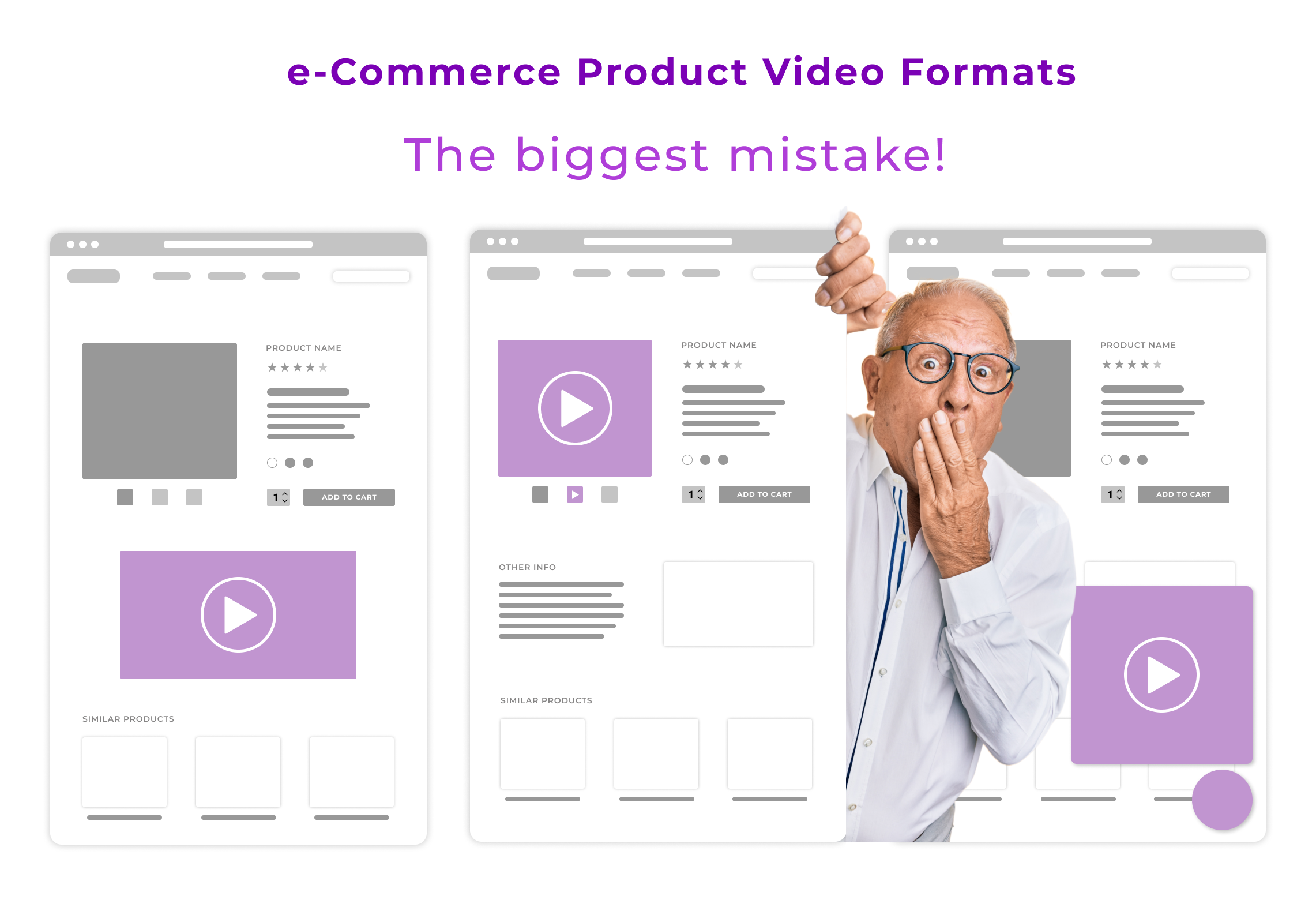 What is the biggest mistake e-merchants make in embedding videos on a product page?