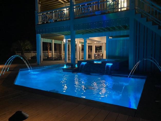 Outdoor living pool remodel