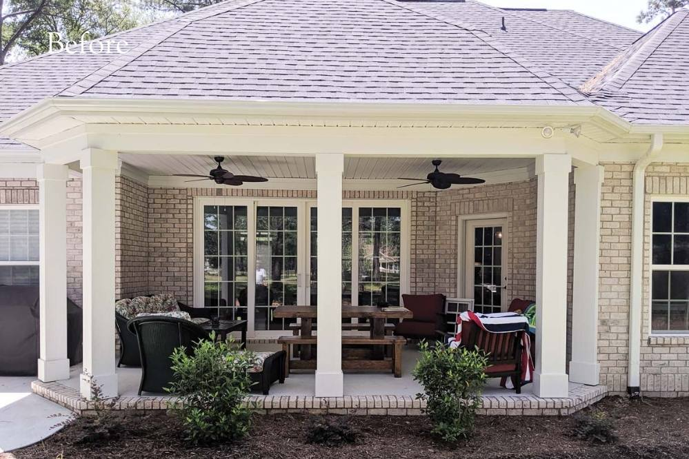 outdoor exterior remodel by Windowz inc.
