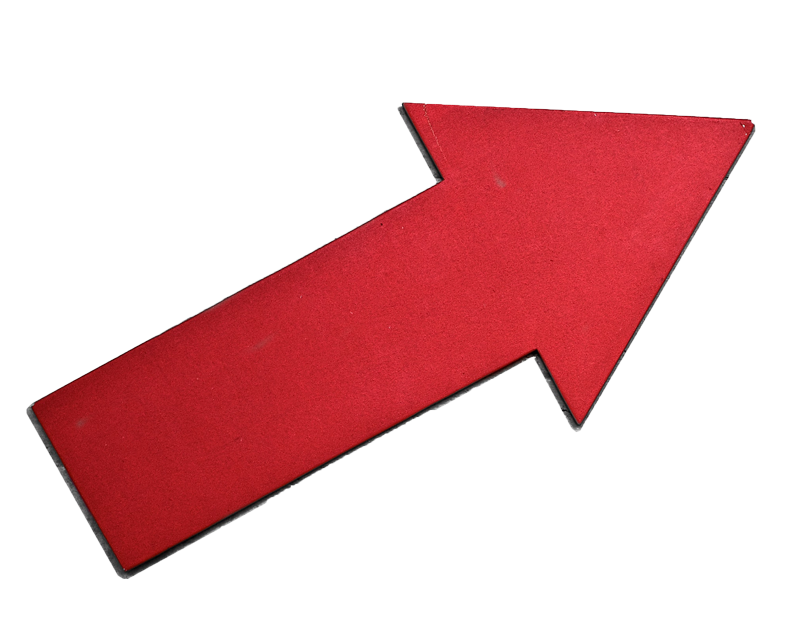 a red arrow to represent sales growth