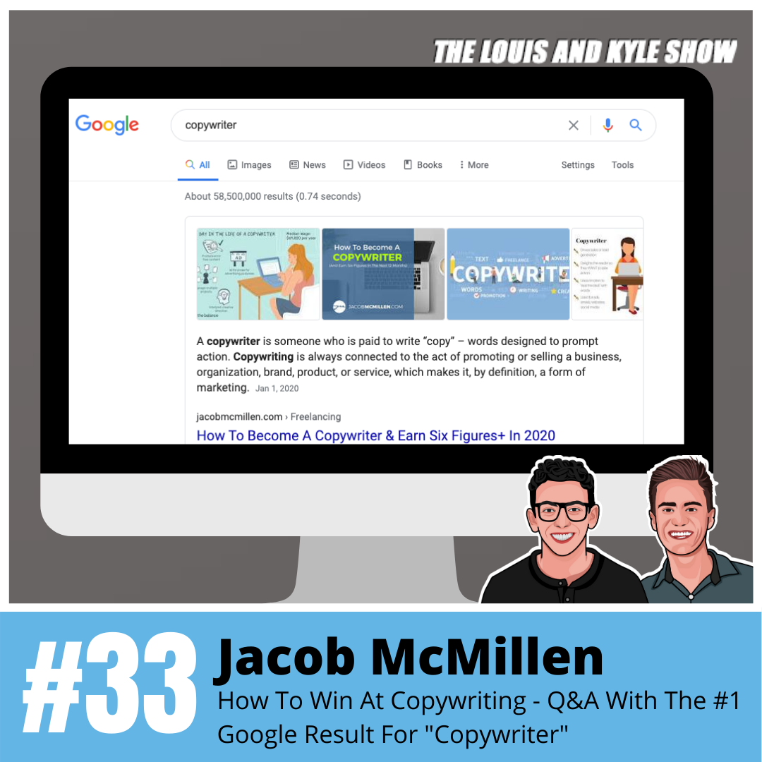 """Jacob McMillen: How To Win At Copywriting - Q&A With The #1 Google Result For """"Copywriter"""""""