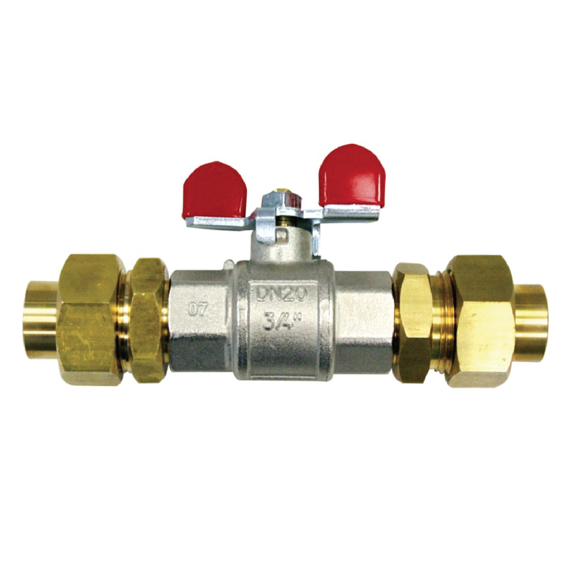 The service shut-off valve can interrupt each branch and circuit of a medical gas and vacuum system.