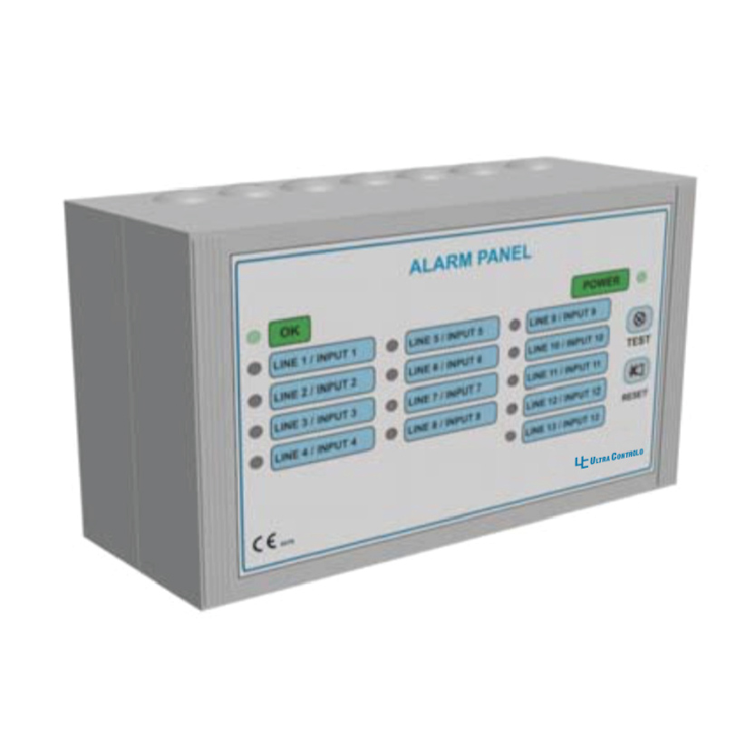 Ultra Controlo's Master Alarm UC-TMAF501 series is complete with a five-year warranty! Each module is microprocessor-based and field adjustable to your needs. It can handle up to 12 functions and there is no limit to increasing the modules up to 100 inputs or more.