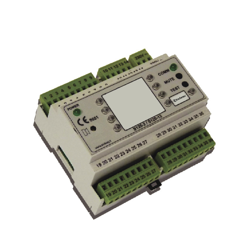 The CA4G-2 alarm module is used to control alarms in medical gas distribution systems.