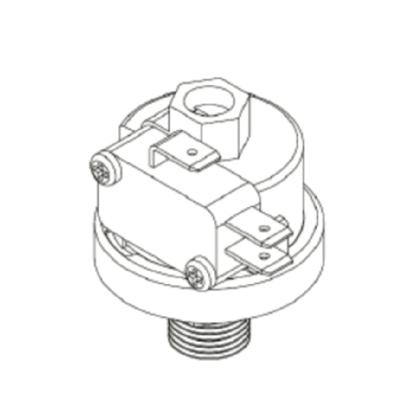 Brass vacuum switch VSP-1D.