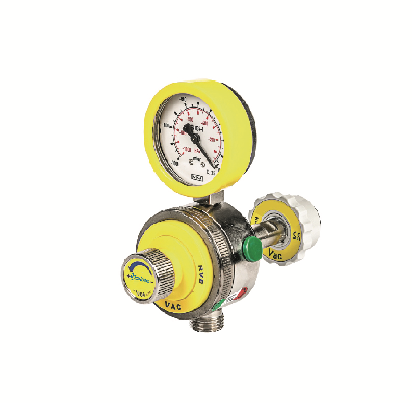 The RGB Vacuum Regulator regulates and measures the vacuum used for medical suction.