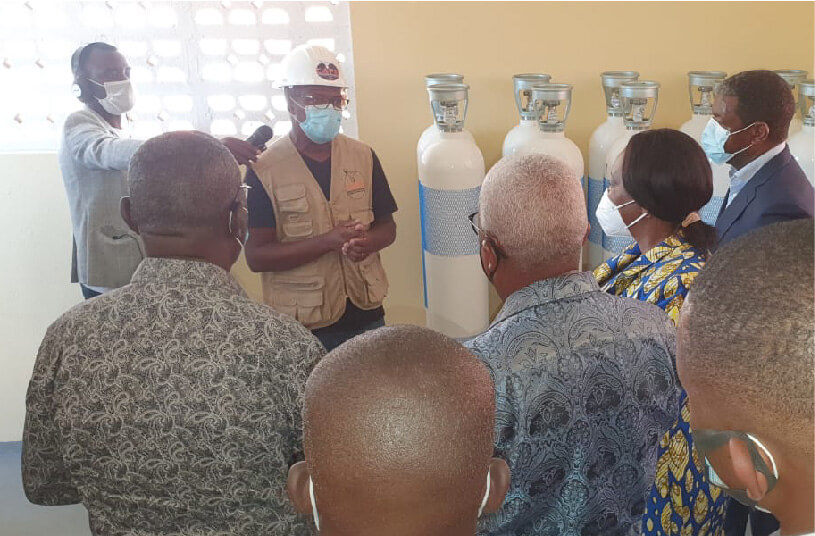 Inauguration of Oxygen Station in Sumbe, Angola