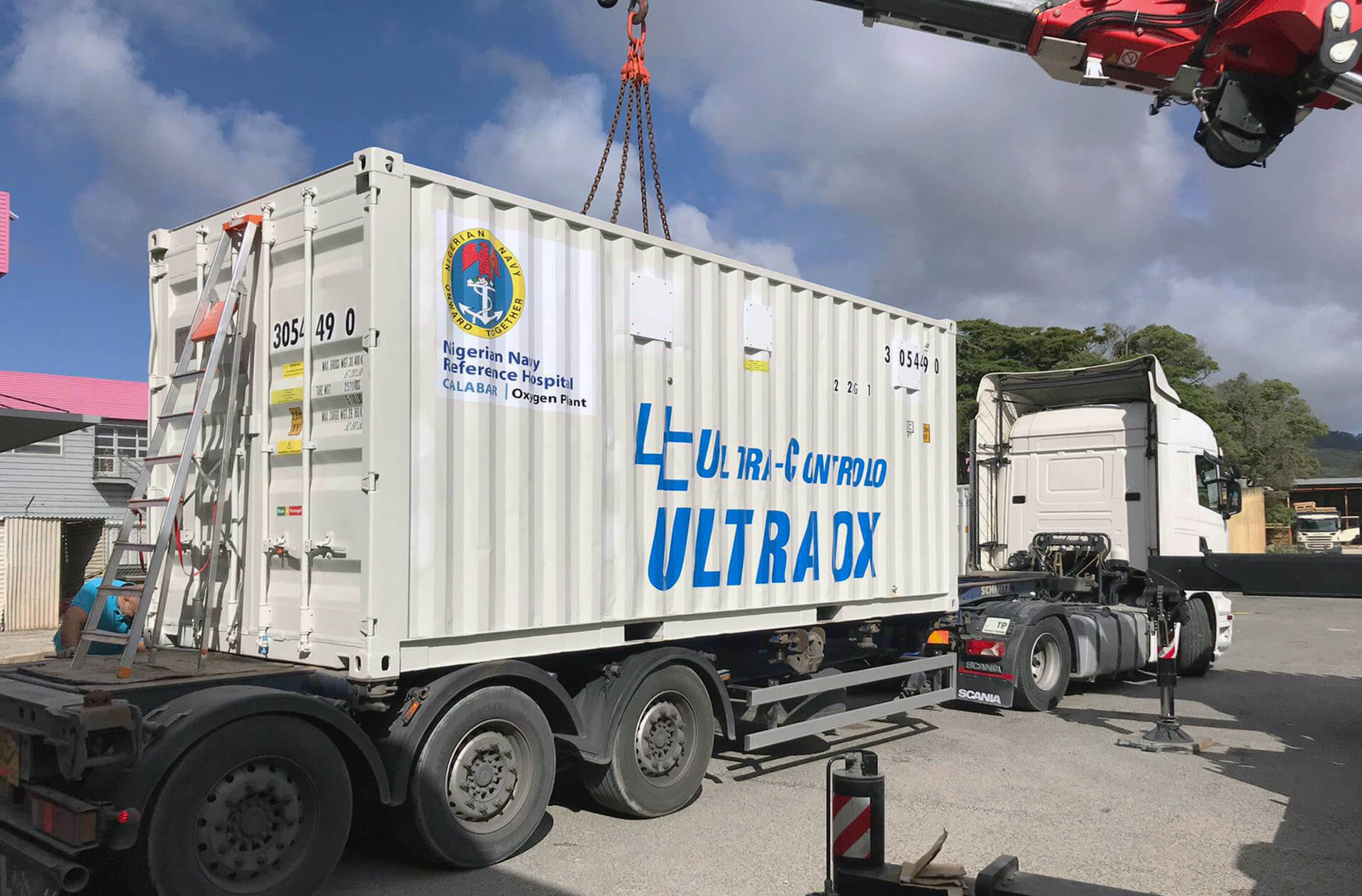 Shipment of a containerized ULTRAOX Oxygen Plant to the Nigerian Navy Reference Hospital