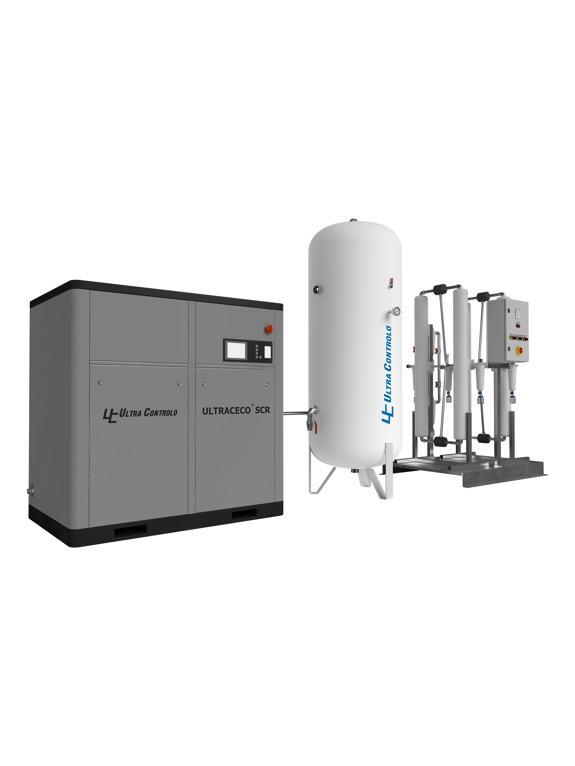 Oil-free Medical Air Supply Systems with dry Screw Compressors