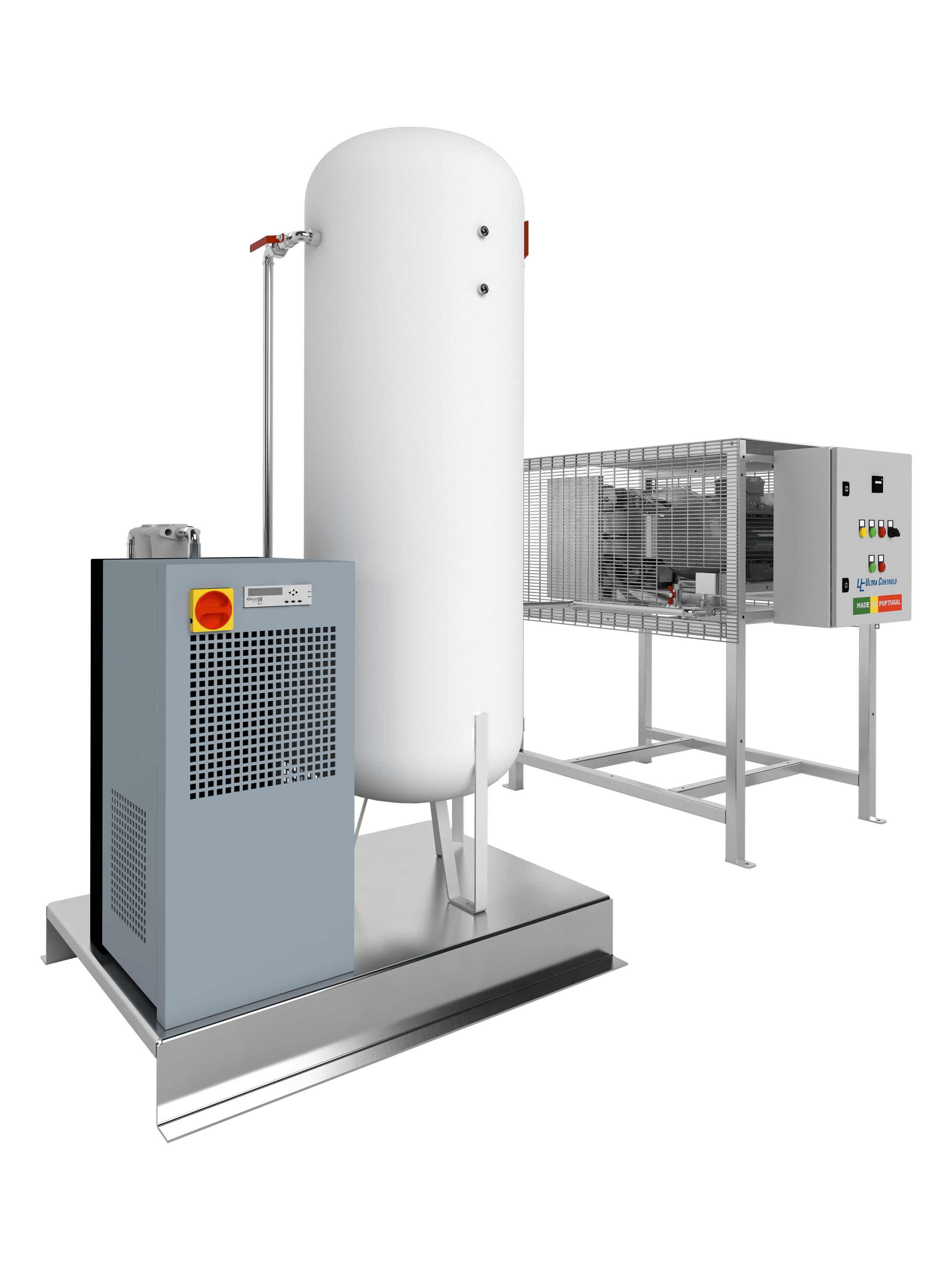 The ACIH Hospital Industrial Compressed Air systems were developed to meet the needs imposed by hospital standards that prohibit the use of medical air for instrument air purposes, requiring an independent compressed air supply.