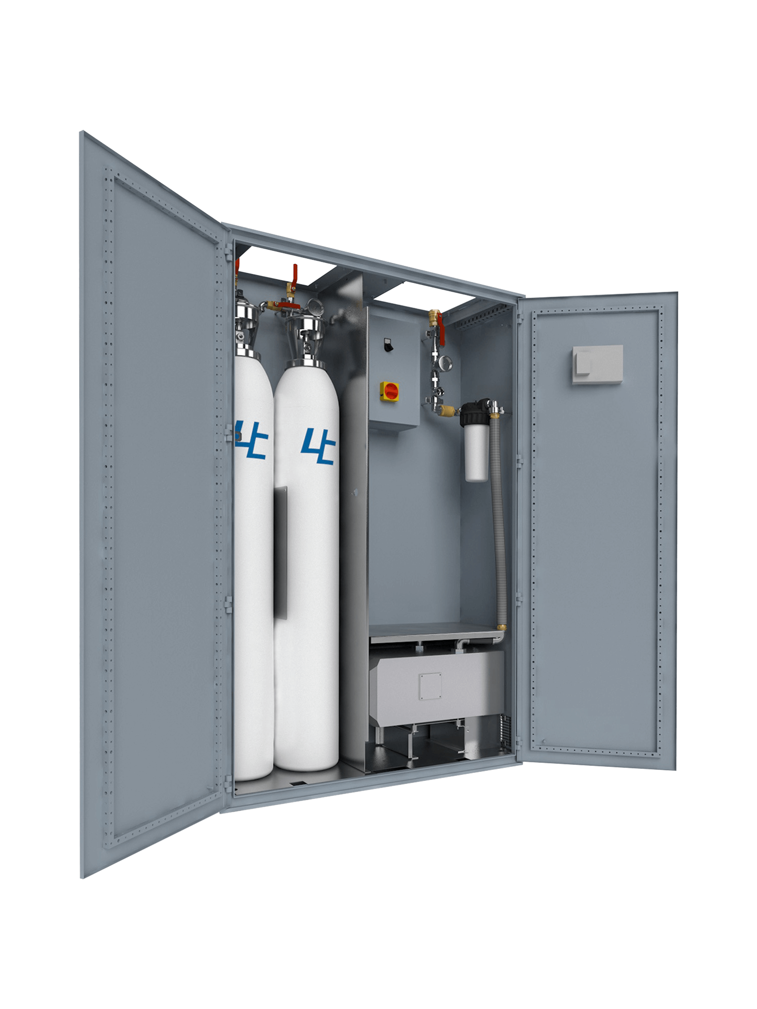 Emergency Cabine ensures the permanent supply of medical gases in the most critical areas.