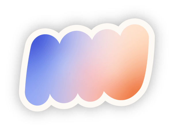 Sticker gradient shape