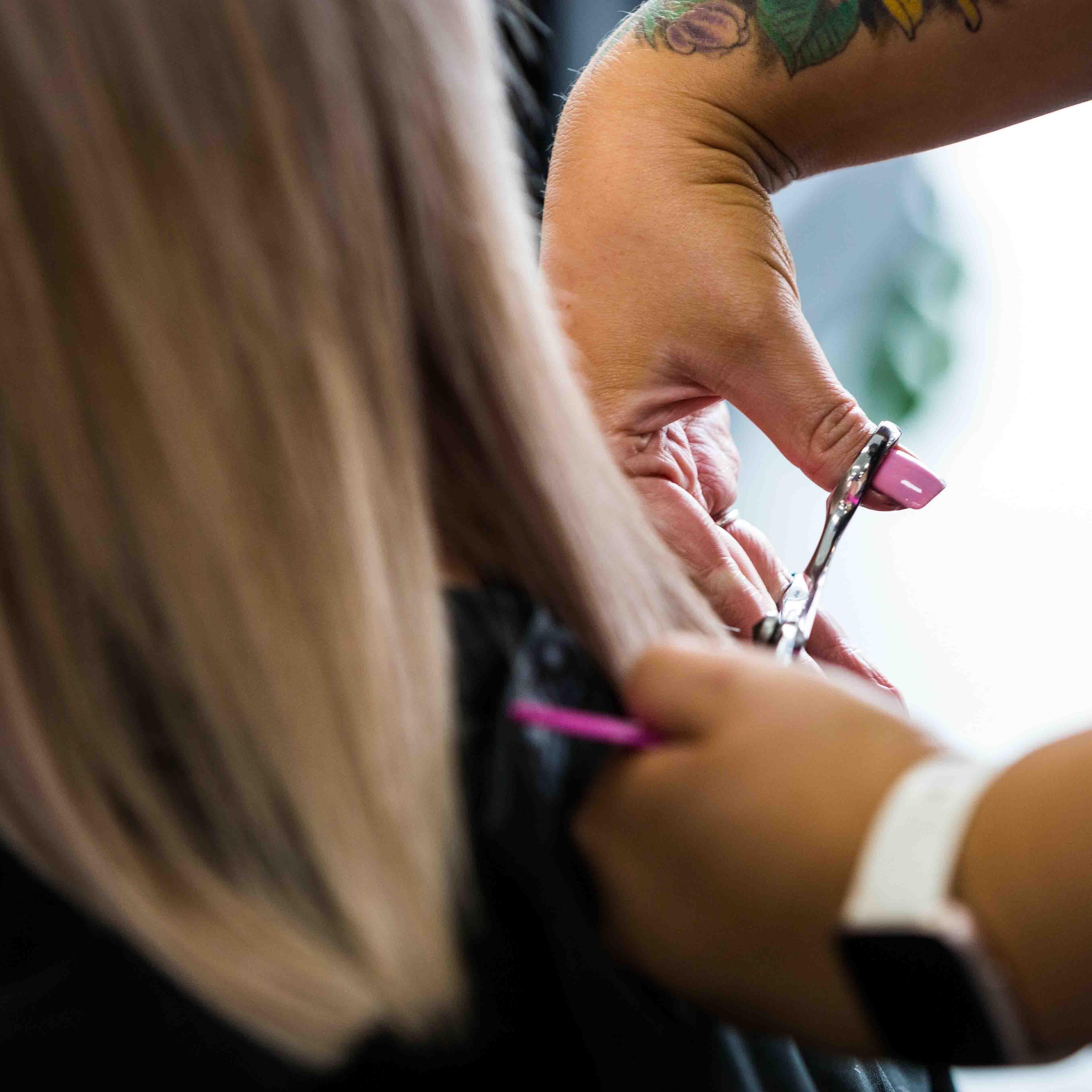 Courtney cutting hair at Sharda Hair Salon Pakenham