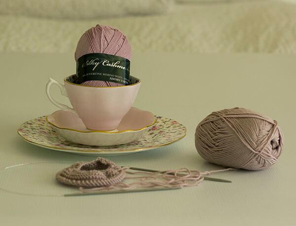 HiyaHiya knitting needle adorn silky cashmerino