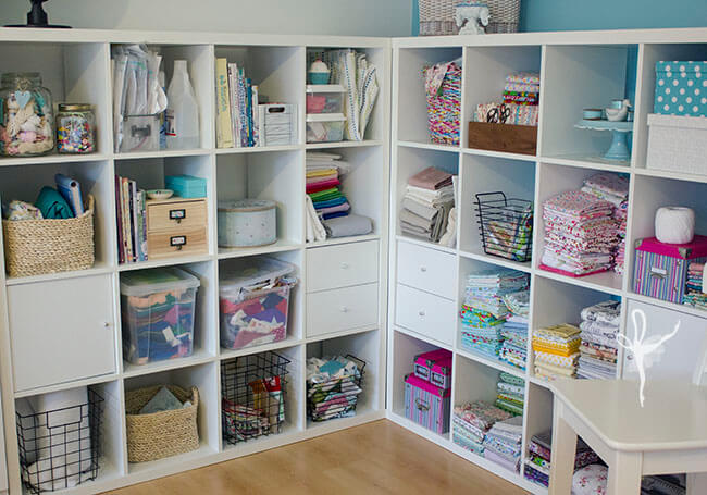 Shelves wide shot