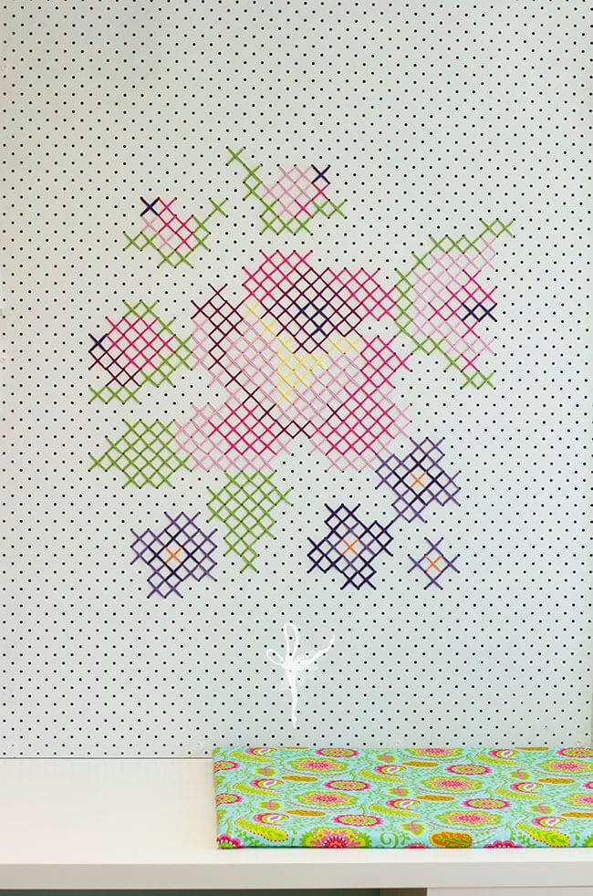 Cross stitch pinboard 01