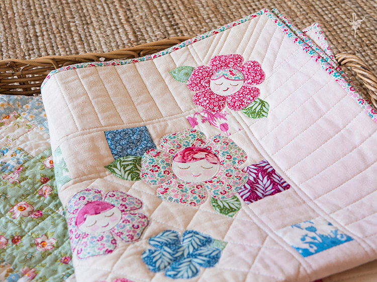 Pretty Handmades Blog Tour - Flower Friends Quilt basket 02
