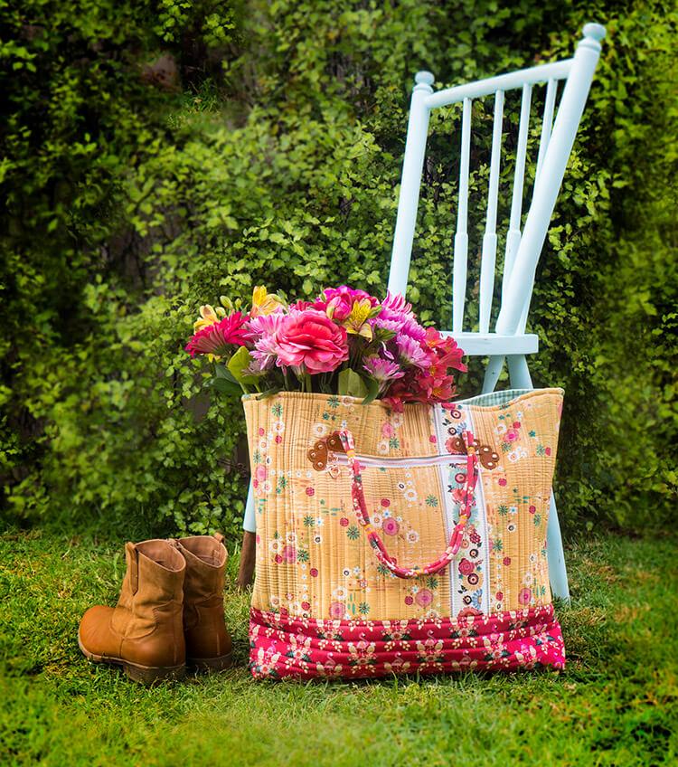Tutorial: Boho Style Market Tote - finished bag