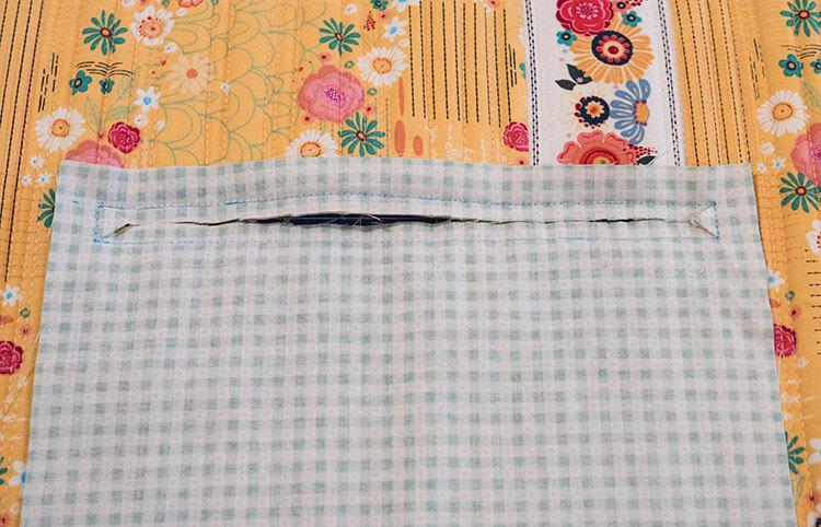 Tutorial: Boho Style Market Tote - zipper pocket 02