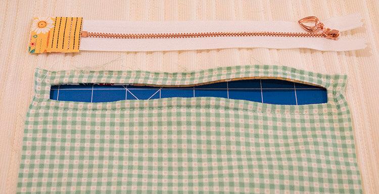 Tutorial: Boho Style Market Tote - zipper pocket 03