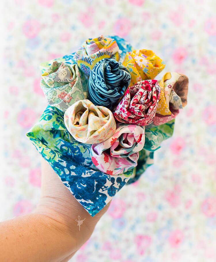 Liberty Society Kantha Stitch Along - Liberty bouquet
