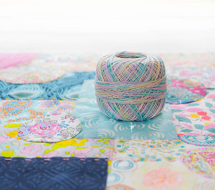 Liberty Society Kantha Stitch Along - Part 2 - crochet cotton