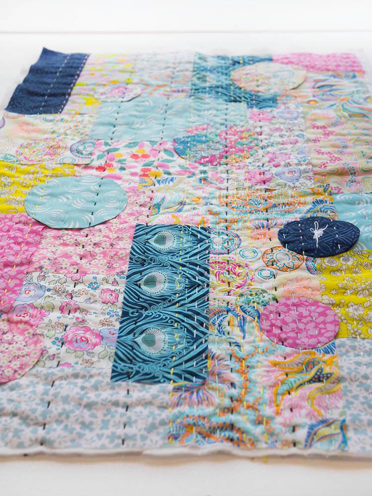 Liberty Society Kantha Stitch Along - Part 2 - developing texture