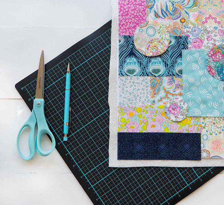 Liberty Society Kantha Stitch Along - Part 2 - second fabric pull