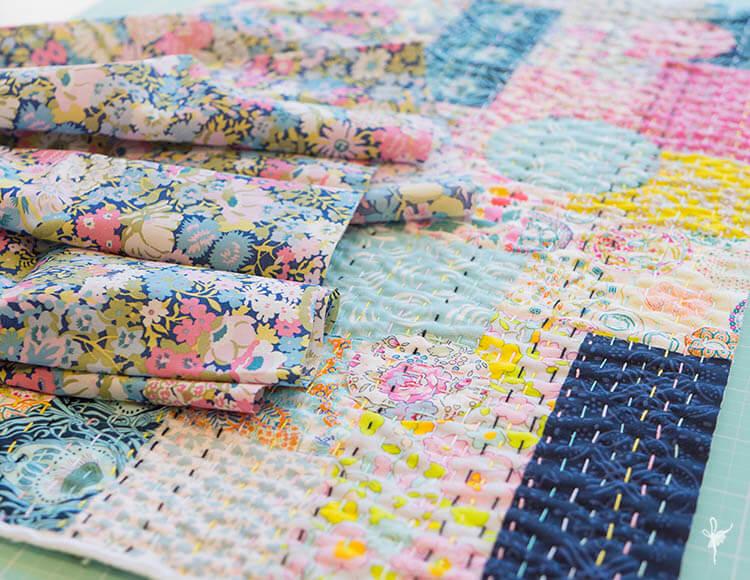 Liberty Society Kantha Stitch Along - Part 3 - Liberty Thorpe A backing fabric