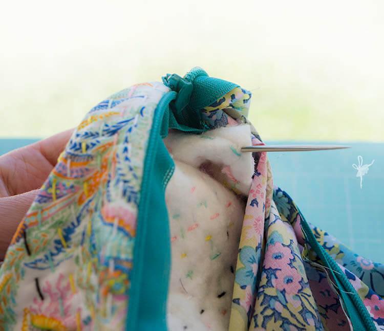 Liberty Society Kantha Stitch Along - Part 3 - attaching tassels