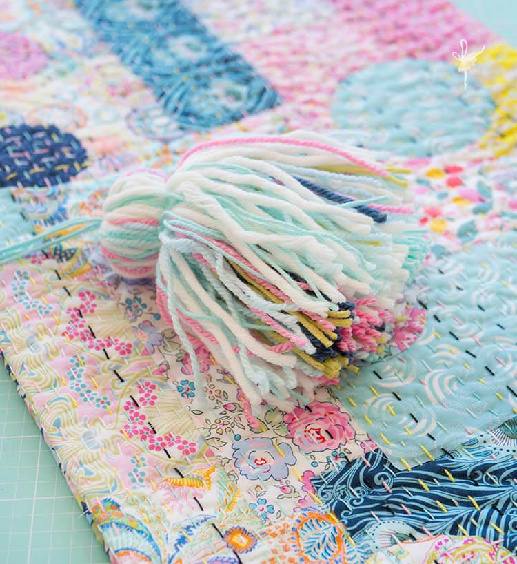 Liberty Society Kantha Stitch Along - Part 3 - matching tassels