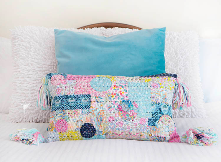 Liberty Society Kantha Stitch Along - Part 3 - Kantha quilted pillow