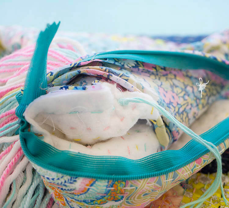 Liberty Society Kantha Stitch Along - Part 3 - tie off tassels tightly
