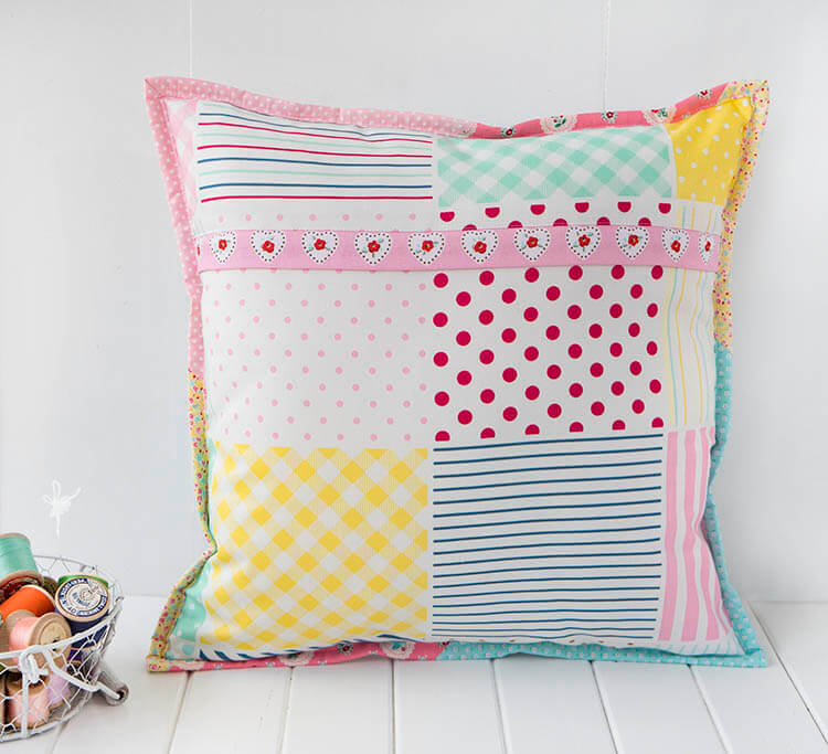 A Big Little Dolly Pillow - Fun and modern backing